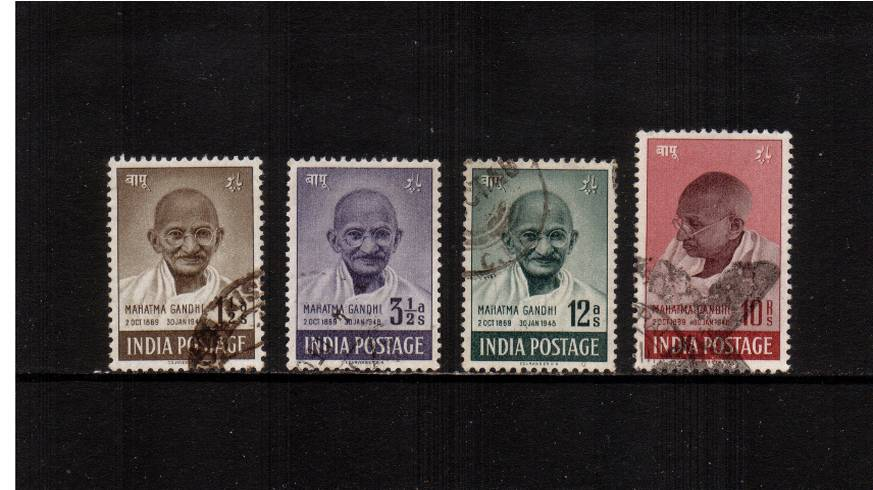 First Anniversary of Independence - Mahatma Gandhi.<br/>