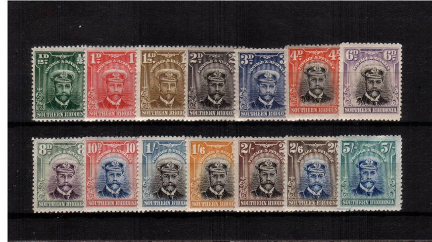 The ''Admiral'' set of fourteen superb unmounted mint. Seldom offered unmounted.