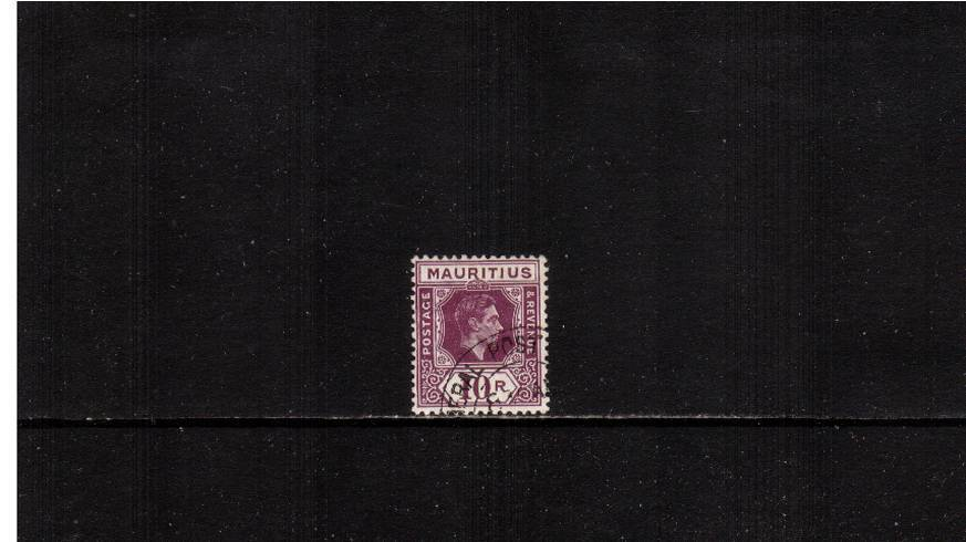 10r Reddish Purple - Chalky Paper<br/>A superb fine used single cancelled with a crisp double ring steel CDS cancel.