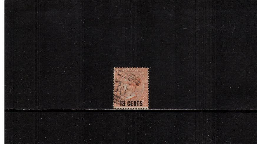 13c on 3d Orange-Red definitive single<br/>A superb very lightly used single. SG Cat �