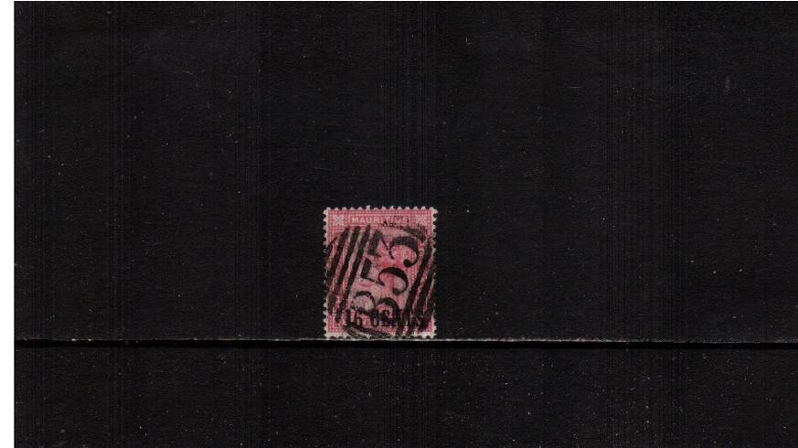 16c on 17c Rose definitive single - Surcharge measures 14絤m<br/>A good used stamp. SG Cat �