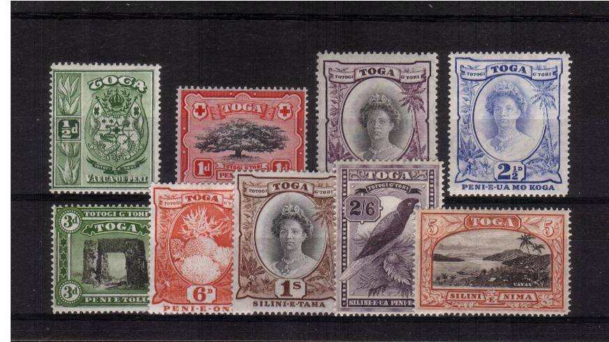 The Multiple Script CA watermarked set of nine superb unmounted mint.