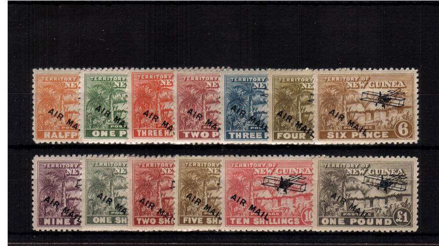 The ''AIRMAIL '' overprint set of thirteen superb unmounted mint. Pretty. <br/><b>XVX</b>