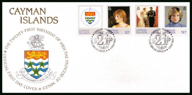 21st Birthday of Princess of Wales official First Day Cover<br/>Please note that this is priced on the value of the used stamps <br/> with no special premium because its a FDC. <br/>SG Cat for the stamps �10