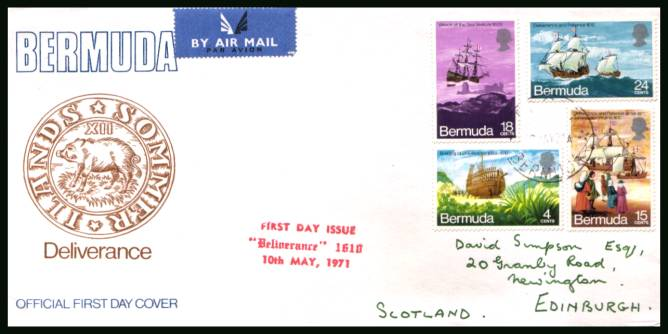 Voyage of the Deliverance Ship<br/>An illustrated (opened) First Day Cover offered at the value of the used stamps alone.