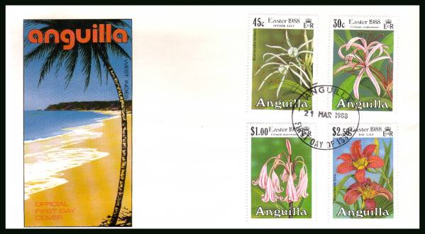 Easter - Lillies<br/>on an unaddressed official First Day Cover