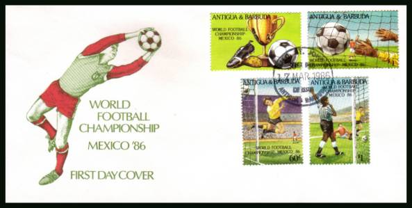 World Cup Football Championship - Mexico<br/>on an unaddressed colour illustrated First Day Cover