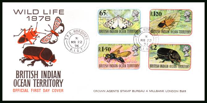 Wildlife - 4th Series<br/>cancelled with a T.P.O. NORDVAER steel CDS on an illustrated First Day Cover