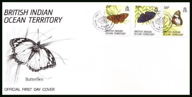 Butterflies<br/>cancelled with special cancel on an illustrated First Day Cover
