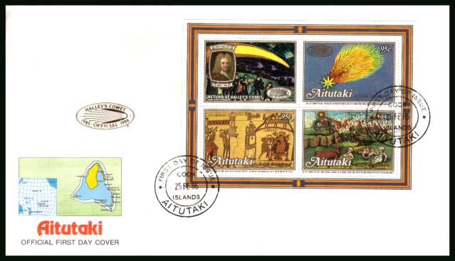 Appearance of Hallet's Comet - 2nd Issue - minisheet