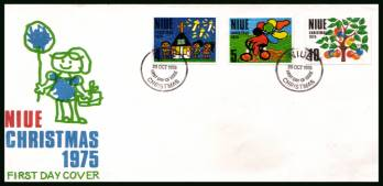 Christmas<br/>on an unaddressed illustrated First Day Cover