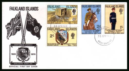 Golden Jubilee of Defence Force<br/>on an unaddressed official full colour First Day Cover