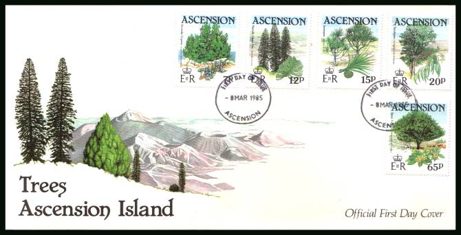 Trees<br/>on an official unaddressed official First Day Cover