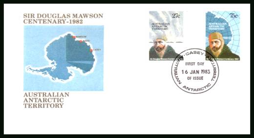 Sir Douglas Mawson - Explorer<br/>on an official unaddressed First Day Cover