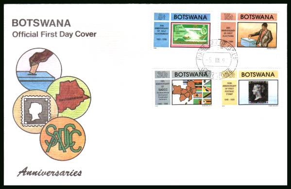 Anniversaries<br/>on an official illustrated First Day Cover