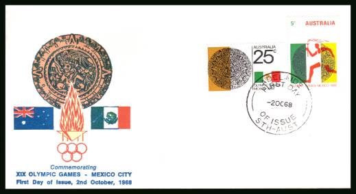 Olympic Games - Mexico City <br/>on an official unaddressed First Day Cover
