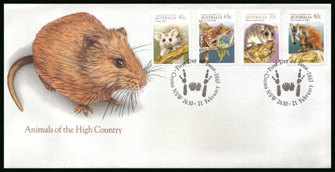 Animals of the High Country<br/>on an official unaddressed First Day Cover