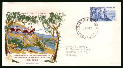 First Crossing of Blue Mountains<br/>on a neatly typed addressed First Day Cover