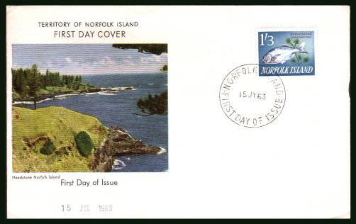 1/3d Fish definitive single<br/>on an illustrated unaddressed First Day Cover