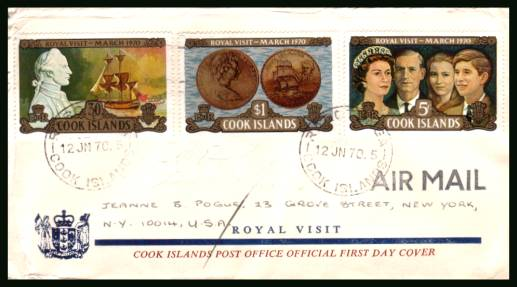 Royal Visit to New Zealand<br/>on an illustrated official hand addressed First Day Cover