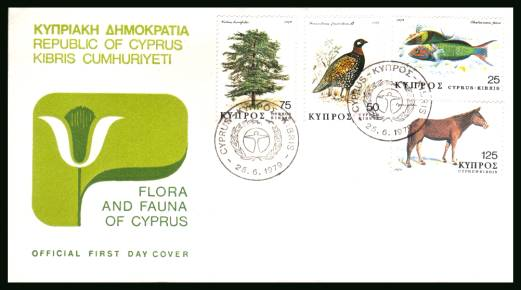 Flora and Fauna<br/>on an unaddressed illustrated official First Day Cover