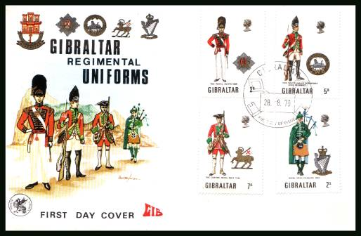 Military Uniforms - 2nd Series<br/>on an unaddressed illustrated WESSEX First Day Cover