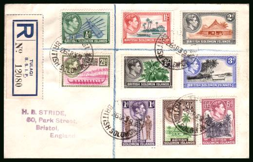 The George 6th set to the 1/- value on a REGISTERED cover cancelled with a CDS dated 26 AP 39 thus not FDC..