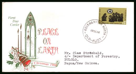 Christmas<br/>on a typed addressed First Day Cover