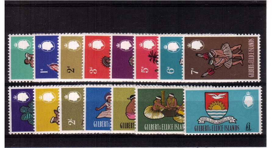 A superb unmounted mint set of fifteen.<br/><b>ZKB</b>