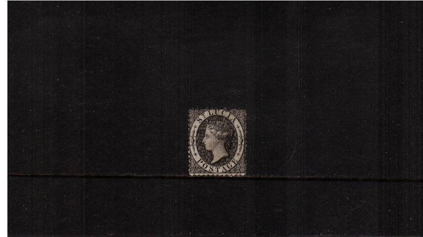 (1d) Black - Perfortation 12½ - Watermark Crown CC<br/>