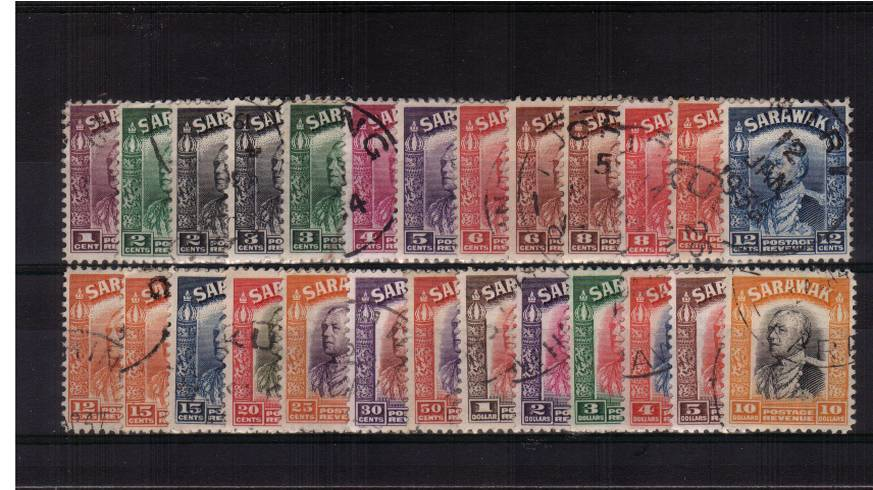 The Charles Brooke complete fine used set of twenty-six. A lovely set.
