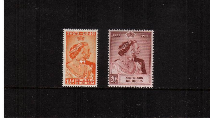 the 1948 Royal Silver Wedding set of two superb unmounted mint.<br/><b>SEARCH CODE: 1948RSW</b>.
