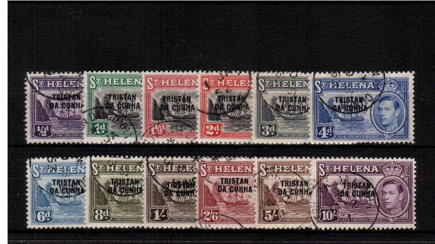 The overprint set of twelve superb fine used.