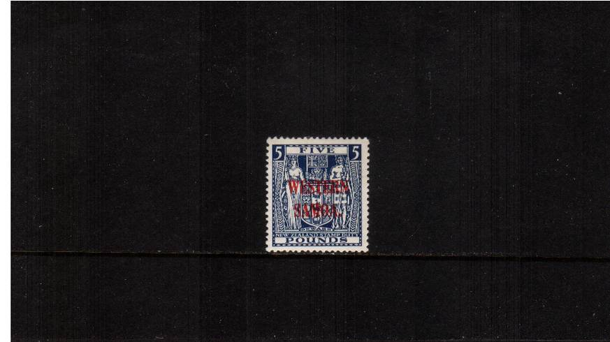 �Indigo-Blue Postal Fiscal stamp<br/>A fine lightly mounted mint single