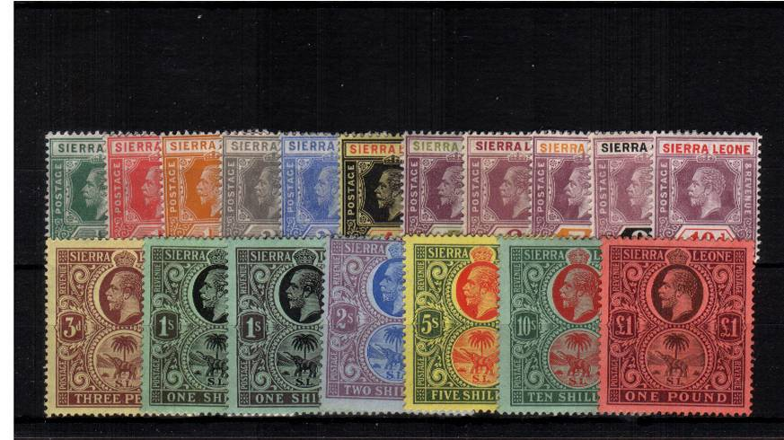 The George 5th set of seventeen with the bonus of the additional 1/- shade lightly mounted mint. Please note the �is actually unmounted!!
