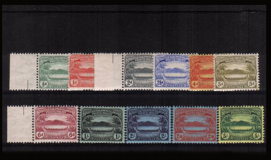 The ''Canoes'' set of eleven superb unmounted mint. A very rare set to find unmounted mint.<br><b>XZX</b>