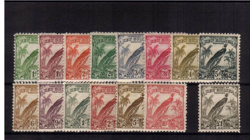 The ''Bird'' set of fifteen superb unmounted mint.