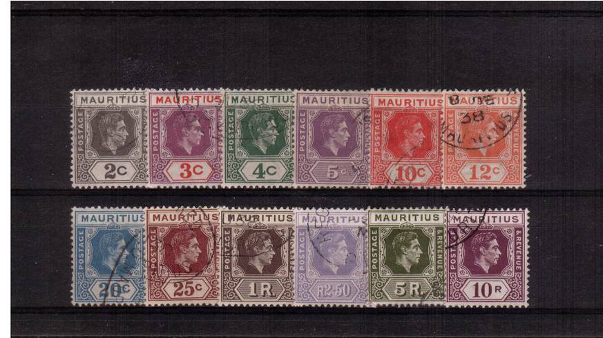 A superb fine used set of twelve each cancelled with part steel CDS cancel.