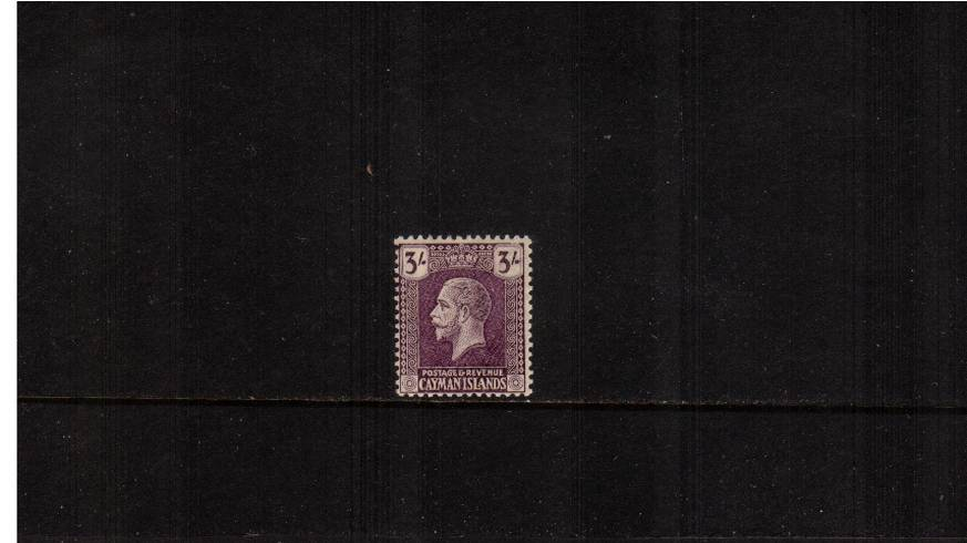 3/- Violet - Watermark MULTIPLE SCRIPT<br/>