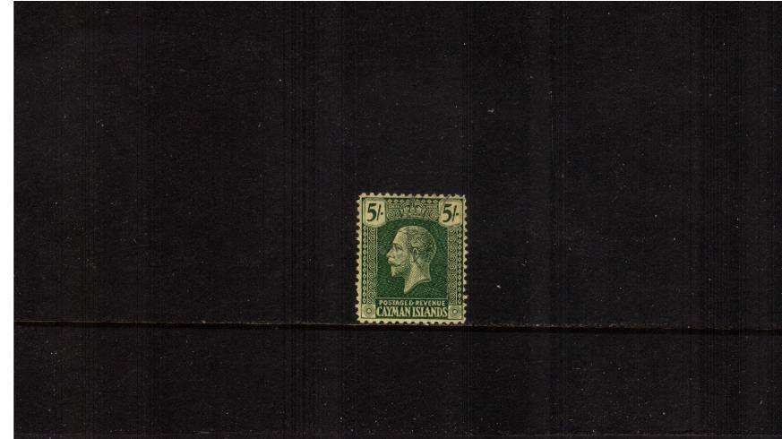 5/- Green on Yellow - Watermark MULTIPLE SCRIPT<br/>