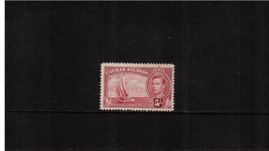 5/- Carmine-Lake definitive odd value<br/>