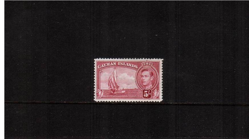 5/- Crimson definitive odd value<br/>A fine lightly mounted mint single. SG Cat �.00<br><b>QAQ</b>