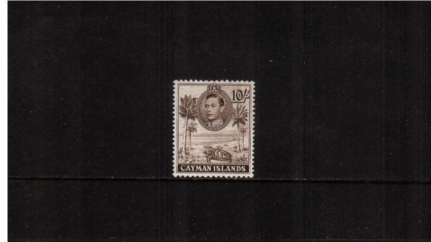 10/- Chocolate definitive odd value - perforation 11絰13<br/>