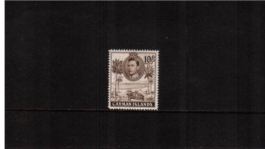 10/- Chocolate definitive odd value - perforation 14<br/>