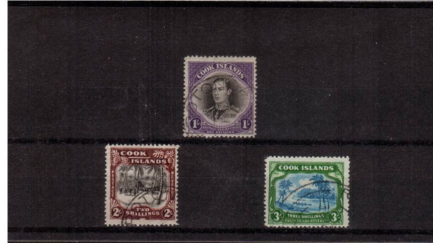 A superb fine used set of three with lovely cancels.