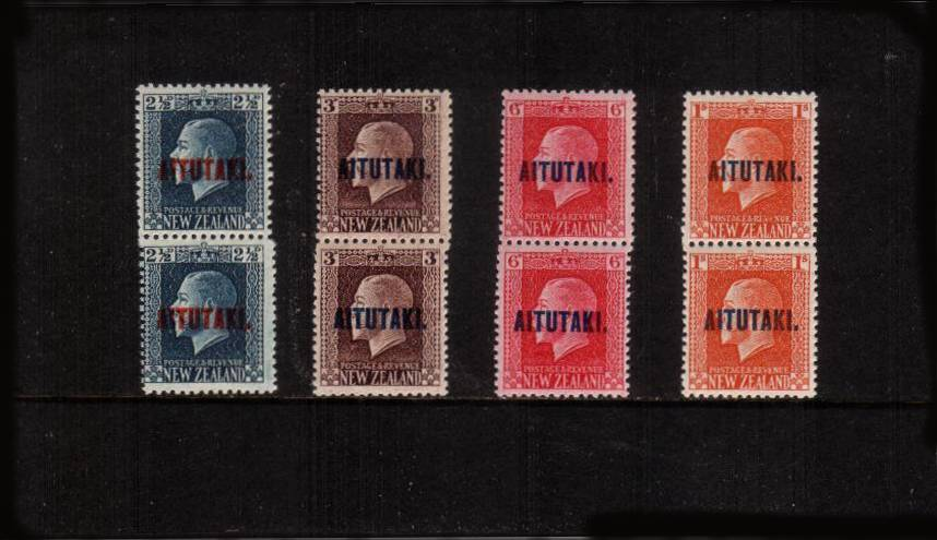 The se-tenant perforation change set of four in superb unmounted mint vertical pairs.<br/>