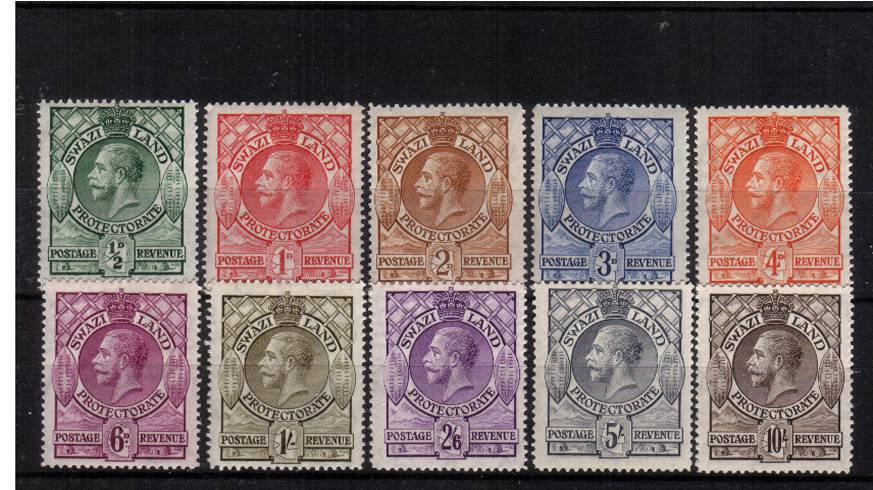 The George 5th set of ten superb unmounted mint. A seldom seen set unmounted mint.<br/><b>QEQ</b>