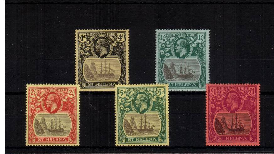The ''Multiple Crown CA'' watermark set of five lightly mounted mint. A bright and fresh set.