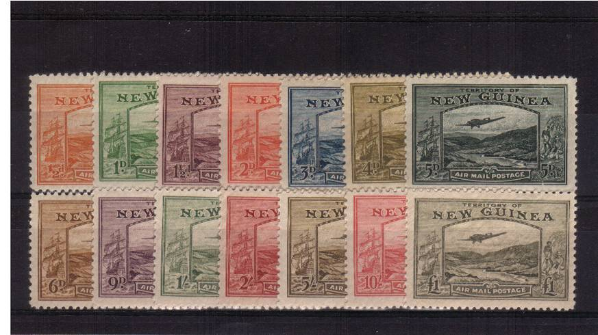 The ''AIRMAIL POSTAGE'' set of fourteen superb unmounted mint. A rare set to find unmounted. Superb! SG Cat �00.00