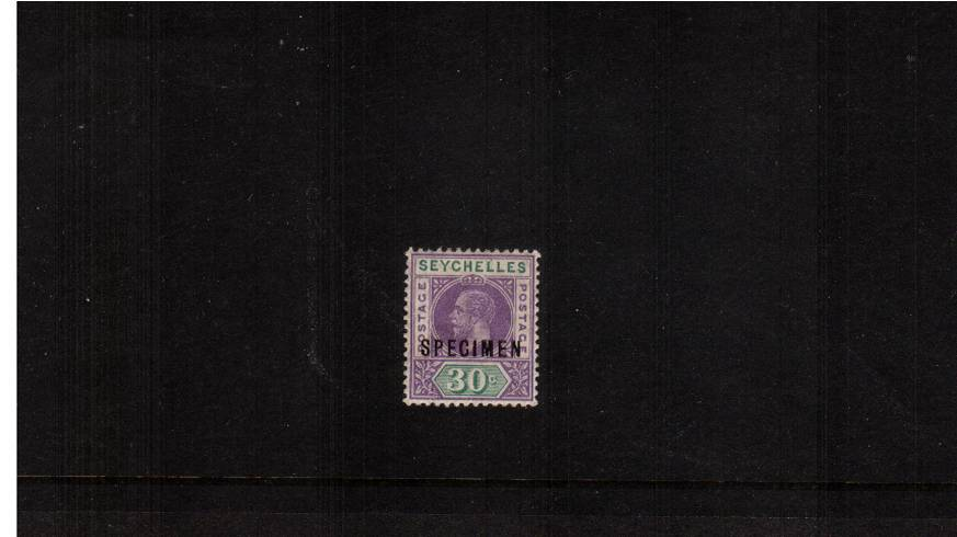 30c Dull Purple and Olive - Watermark Multiple Crown.<br/>